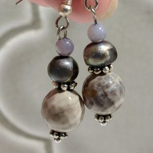 Jewelry - Handcrafted earrings with mother of pearl